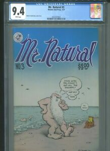 Mr. Natural #3 CGC 9.4 (1977) Kitchen Sink Press 1st First Print White Pages