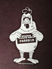 Family Guy Giant Chicken Arrested Mug Shot Car Window Sticker Decal Official 5""