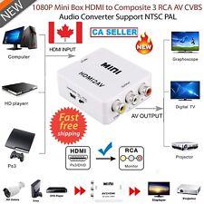 HDMI to RCA Converter AV Adapter Upscaler Component HDMI2AV 1080p 720p Video CA