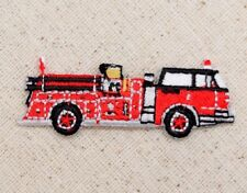 Red Fire Engine/Truck Firefighter/Childrens - Iron on Applique/Embroidered Patch