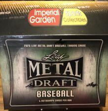 2020 LEAF METAL DRAFT бейсбол хобби коробка в заводской упаковке 6 авто в коробке