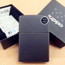 Zippo Black Matte Classic Windproof Lighter #218 New In Box