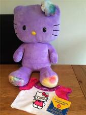 Build a Bear Factory RARE & Difficile à trouver violet HELLO KITTY & New Geek tee