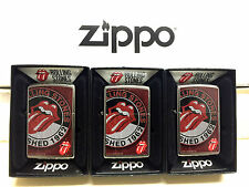 Zippo Rolling Stones Full Size Windproof Lighter#28843-3Pc Lot-Brand New In Box