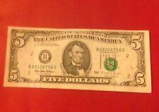 New listing 1995 $5.00 New York Note Third Print Shift