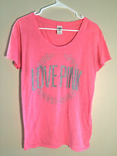 Victoria's Secret Pink watermelon silver sparkly Love size small women's t-shirt