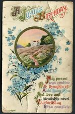 Illustrated Card 'Joyous Birthday'. Posted Gravesend, 1912
