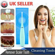 Electric Tooth Cleaner Kit Ultrasonic Oral Irrigator Teeth Stain Dental Clean UK