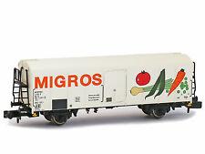 BRAWA 67115-carro merci Carro di raffreddamento UIC standard 1 Migros FS ep. IV-Spur N-NUOVO