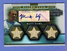 2007 TRIPLE THREADS RISING STAR MATT KEMP AUTOGRAPH BAT CARD 52/75 DODGERS..1984