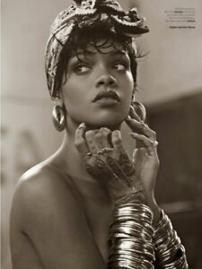"""Rihanna music poster 24 x 36/"""" I/'m Crazy and I dont pretend to be anything else"""