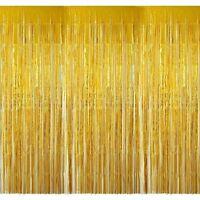 4 x Lametta Vorhang Glitzervorhang 100 x 250 cm Karneval Party Geburtstag Deko