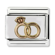 GENUINE Nomination Classic Rose Gold Wedding Rings Charm 430104/13 / £15 RRP
