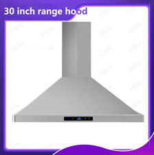 30 Inch 760Cfm Kitchen Stainless Steel Wall-Mounted Range Hood Ventilation New
