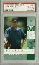 Tiger Woods 2002 Upper Deck UD Golf Chip Shots PSA 10 Gem Mint *POP 37* (2YR RC)