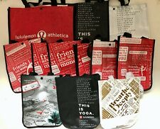Lululemon Reusable Shopping  Gift Bags Lunch Tote Lot of 12