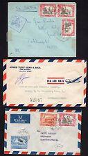 Aden 1951 Trois Housses Un Avec Raf Censure 75 To Branches GB & Deux To