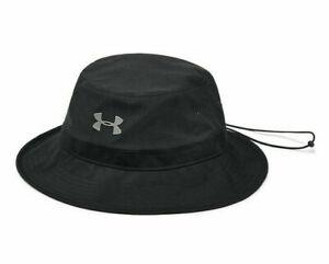 NEW! Under Armour Men's ArmourVent Warrior Bucket Hat/Cap, Black/Metallic, OSFA