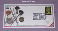 1983 ROYAL MINT & MAIL SPECIMEN £1 COIN STAMP COVER - First One Pound Coin