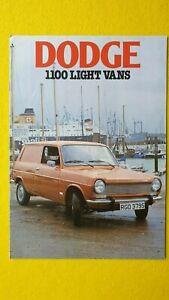 Dodge 1100 light vans van high-top pick-up brochure catalogue April 1978 MINT B