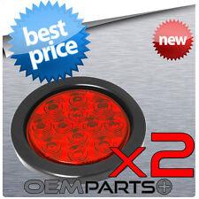 2x - TRUCK TRAILER CUSTOM RED LED LIGHT BRAKE TURN TAIL TAILIGHT 12v BRAND NEW