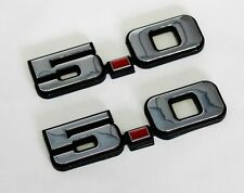 New! 1979-1993 Ford MUSTANG GT LX 5.0 Fender Emblem Chrome Plated Pair, R/L