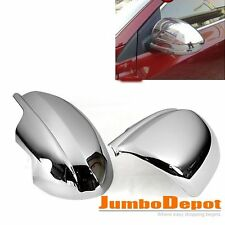 Triple Chrome Rear View Mirror Covers Trims Kit for Mazda 2 3 6 2010 2011 2012