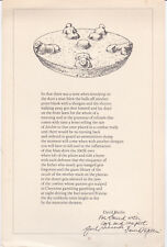 DAVID MATLIN Poetry Broadside SO THAT THERE WAS A TIME... SIGNED by POET & ILLUS
