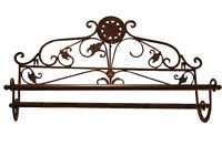 Porte Serviette Deco Salle De Bains Retro Vintage Shabby Chic Marron Ancien