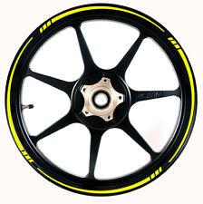 Speed Tapered Rim Tape Stripes - Colour Yellow Honda Yamaha Suzuki Kawasaki