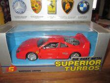 Sunnyside Limited Ferrari 1/24 Die Cast metal Superior Turbos w Free ship!