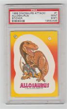 1988 Topps, Dinosaurs Attack!, Sticker #1 Allosaurus, Psa 9
