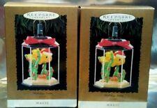 (2) Holiday Swim Hallmark 1995 Magic Collector's Keepsake Christmas Ornament