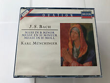 Mass in B Minor 1990 by Bach and Munchinger RARE 2 CD W BKLT 028941425126