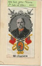 More details for ww1 embroidered silk: field marshall sir john french. british c in c 1914-16.