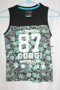 COOGI Girls Tank Top Black Green Floral SleevelessTop  Australian Size 7 new