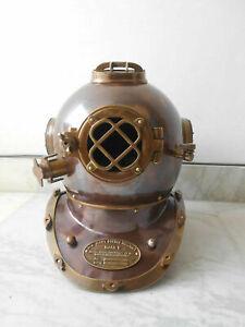 Nautical collectible Mark V Antique Finish Vintage scuba deep sea Diver Helmet