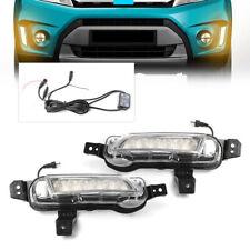 2X Car LED Daytime Running Light  Fog Lamp For 2015+ Suzuki Vitara White DRL New