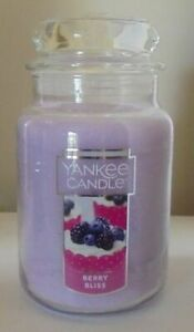 YANKEE CANDLE BERRY BLISS 22oz LARGE JAR CANDLE DELICIOUS FRUITY SCENT!