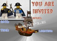 Lego Pirates Party Invitations with matching envelopes, 12 Pack