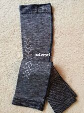 Lululemon Swiftly Arm Warmers Heathered Black Reflective Dots XS/S