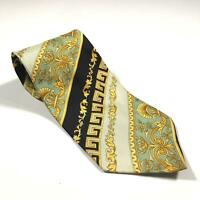 90s Vintage VERSACE CLASSIC V2 Mens Tie | 100% Silk Made in Italy Baroque