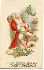 PERE NOEL.SANTA CLAUS . ROBE ROUGE. RED DRESS