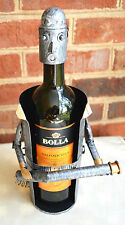 Wine Caddie Fireman with Hose metal wine or bar accessory