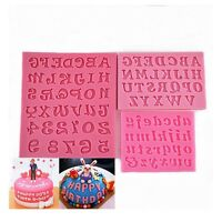 Fondant Baking Letters Numbers Mould Silicone Chocolate Sugar Cake Decorating