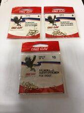 Eagle Claw 038A #8 10Ct (Qty 2) & 038A-10 10Ct (qty1) Baitholder Hooks