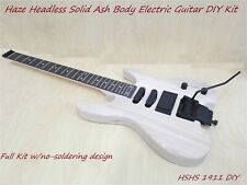 Haze Headless Solid Ashwood Body Electric Guitar HS 1911 DIY,S-S-H,No-Soldering