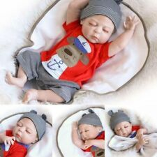 """22"""" Full Body Silicone Reborn Sleeping Doll Soft Vinyl Lifelike Newborn Baby Boy"""