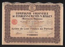 Compagnie coloniale des établissements N. HAGEN (NOUVELLES HEBRIDES) (B)