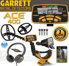 GARRETT ACE 400 Metal Detector with Headphones Rain Cover Waterproof Coil NEW